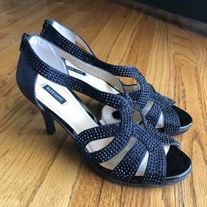 Alex Marie Black Sandal Heels, size 8.5